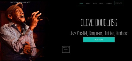 cleve douglass jazz singer website landingpage