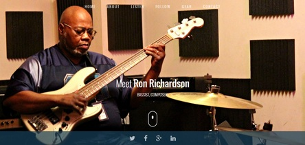 ron richardson bass player  website landingpage