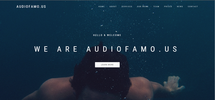audiofamous creative music company  website landingpage